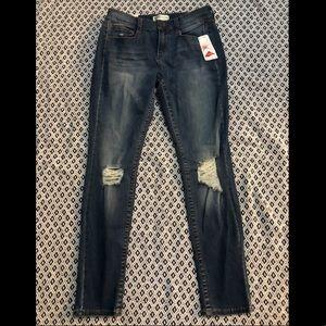 Mudd® FLX Stretch Ripped Skinny Jeans- Juniors'
